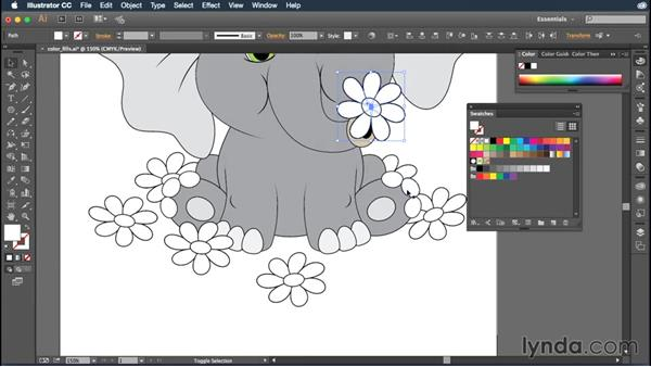 Adding color fills to your objects: Illustrator CC Essential Training (2015)