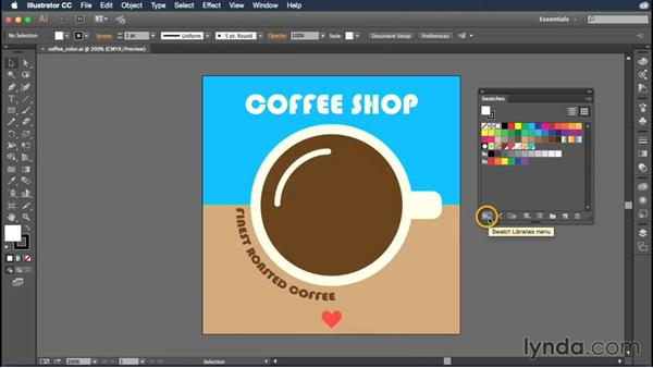 Loading ASE files into Illustrator: Illustrator CC Essential Training (2015)