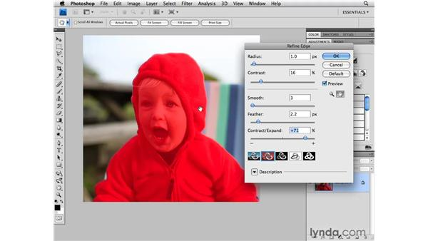 Creating a mask with the Quick Selection tool: Photoshop CS4 for Photographers