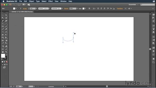 Drawing curves with the Pen tool: Illustrator CC Essential Training (2015)