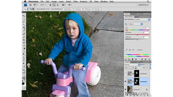 Creating color range selections: Photoshop CS4 for Photographers