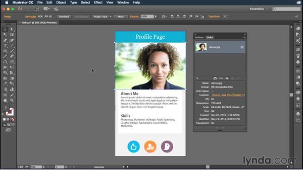 Embedding images into your Illustrator documents: Illustrator CC Essential Training (2015)