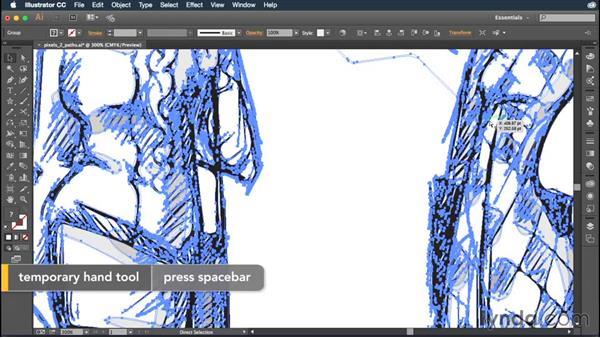 Converting pixels into paths: Illustrator CC Essential Training (2015)