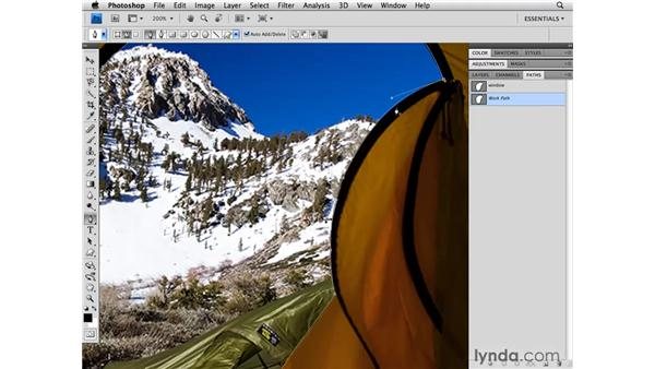 The Magnetic Lasso tool and paths: Photoshop CS4 for Photographers