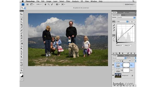 Using the Target Adjustment tool: Photoshop CS4 for Photographers