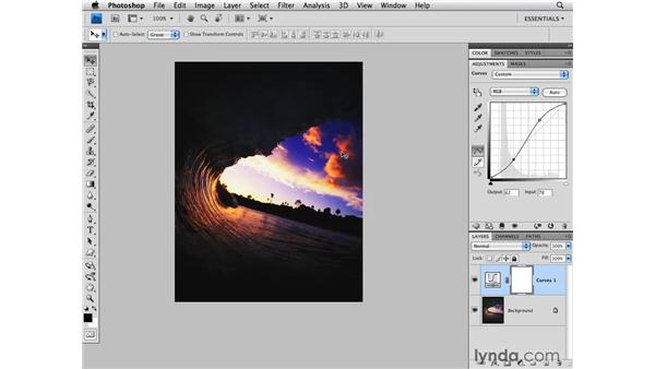 Curves and general Hue/Saturation: Photoshop CS4 for Photographers