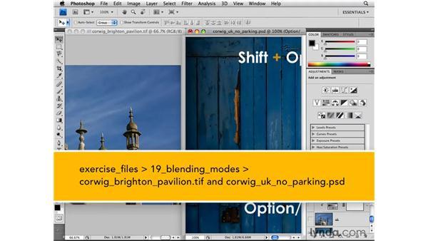 Blend modes shortcuts: Photoshop CS4 for Photographers