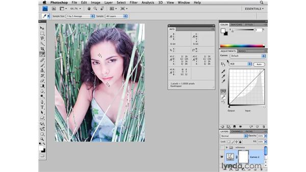 Color correction: Light skin tone: Photoshop CS4 for Photographers