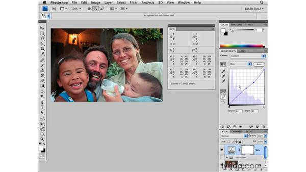 Color correction: Multiple skin tones: Photoshop CS4 for Photographers