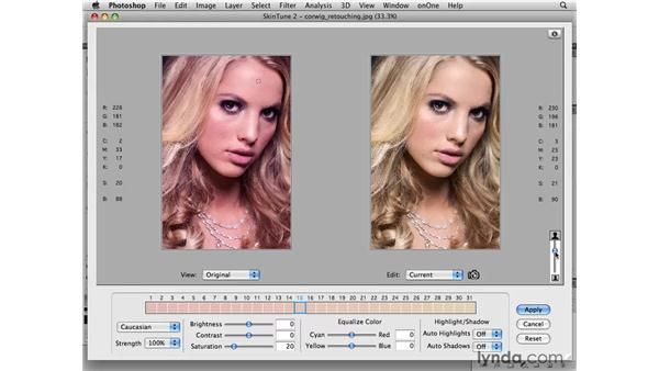 Color correction plugin highlight: SkinTune 2: Photoshop CS4 for Photographers