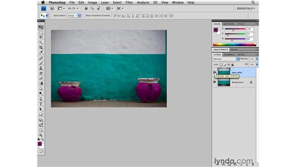 Replacing a color: Photoshop CS4 for Photographers
