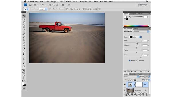 Modifying color with Selective Color: Photoshop CS4 for Photographers