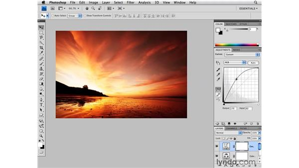 Enhancing a landscape with sunrise colors: Photoshop CS4 for Photographers