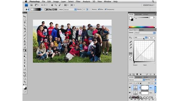 Enhancing a color group shot: Photoshop CS4 for Photographers