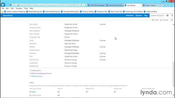 Modifying the Product Catalog: Publishing Sites with SharePoint 2013