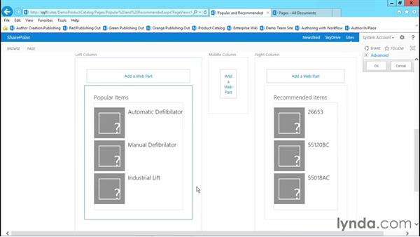 Recommended items and popular items web parts: Publishing Sites with SharePoint 2013