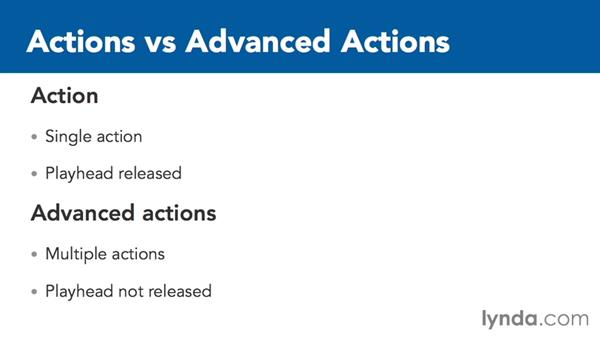 Introduction to advanced actions: Captivate 8 Advanced Techniques
