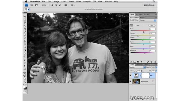 Portrait black-and-white conversion: Photoshop CS4 for Photographers