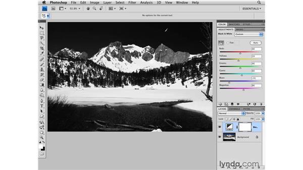 Landscape black-and-white conversion: Photoshop CS4 for Photographers