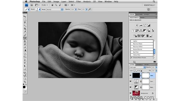 Adding grain and tone to a black-and-white image: Photoshop CS4 for Photographers
