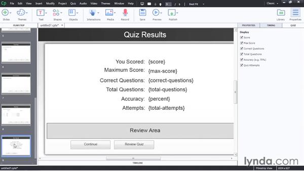 Creating a basic quiz: Captivate 8 Advanced Techniques