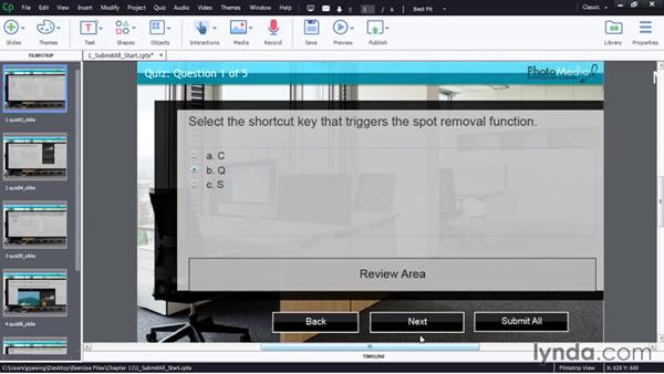 Enabling Submit All option: Captivate 8 Advanced Techniques
