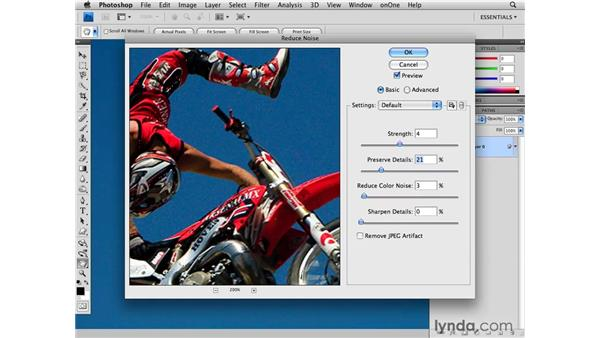 Advanced noise reduction with Channels: Photoshop CS4 for Photographers