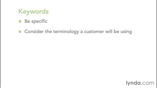 How keywords work: Google AdWords Essential Training