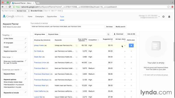Using Google Keyword Planner: Google AdWords Essential Training