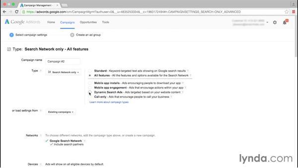 Choosing a campaign: Google AdWords Essential Training