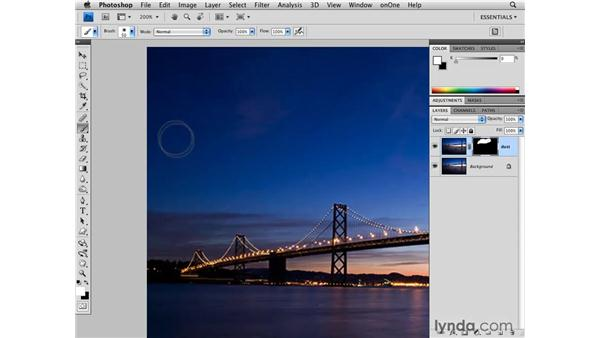 Using masking to remove dust and scratches: Photoshop CS4 for Photographers