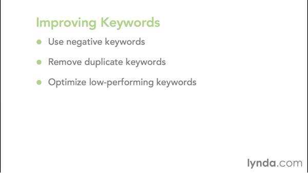 Key optimization tips: Google AdWords Essential Training