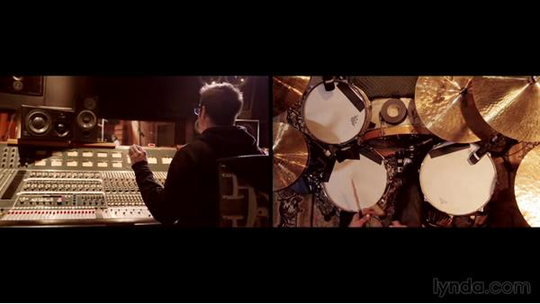 Getting rack tom and floor tom sounds: Drum Recording Session with Josh Freese