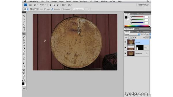 Cleaning up an image with what's there: Photoshop CS4 for Photographers