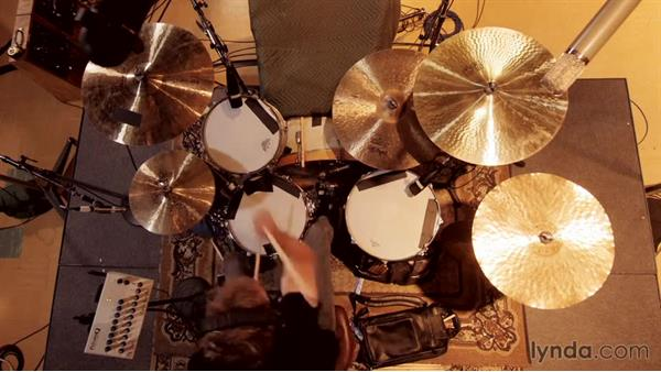 Punching-in to polish the performance: Drum Recording Session with Josh Freese