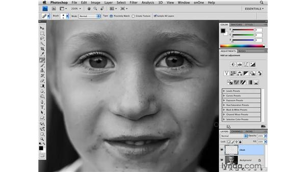 Removing blemishes: Photoshop CS4 for Photographers