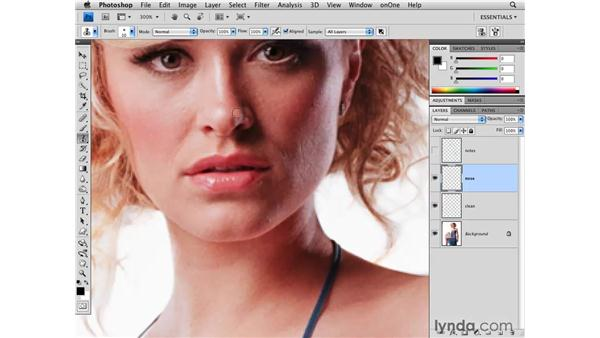Cleaning up backgrounds and blemishes: Photoshop CS4 for Photographers