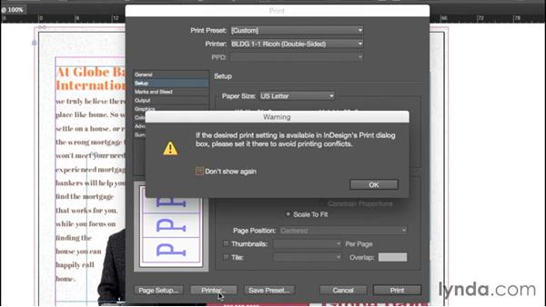Printing and creating a PDF: InDesign CC Essential Training (2015)