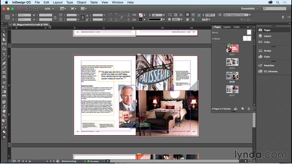 Navigating and zooming: InDesign CC Essential Training (2015)