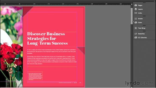 Working with panels: InDesign CC Essential Training (2015)