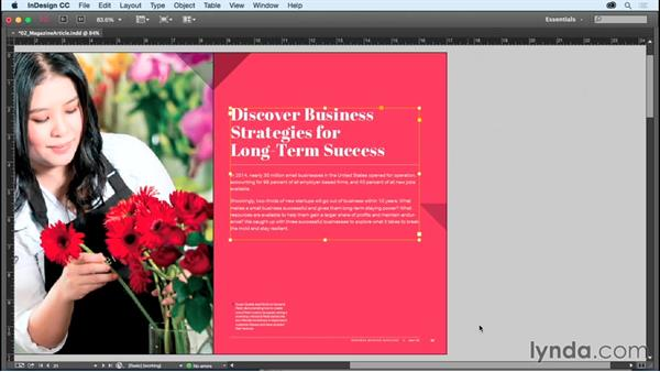 Adjusting view and preview settings: InDesign CC Essential Training (2015)