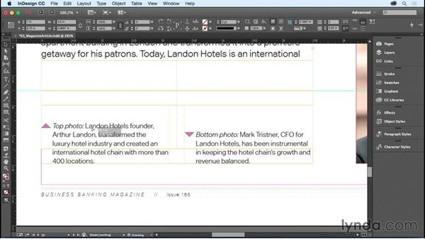 Putting ruler guides on your page: InDesign CC Essential Training (2015)