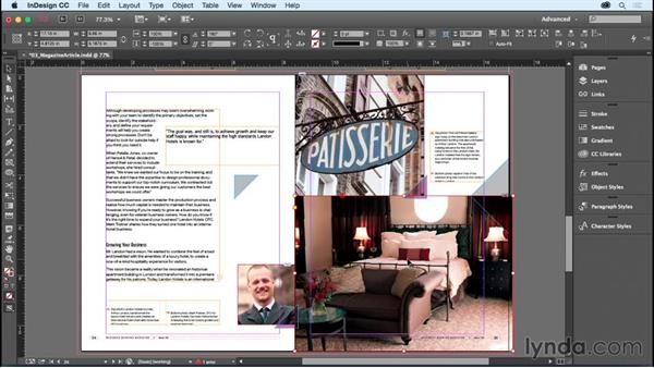 Bleeding colors or images off the side of the page: InDesign CC Essential Training (2015)