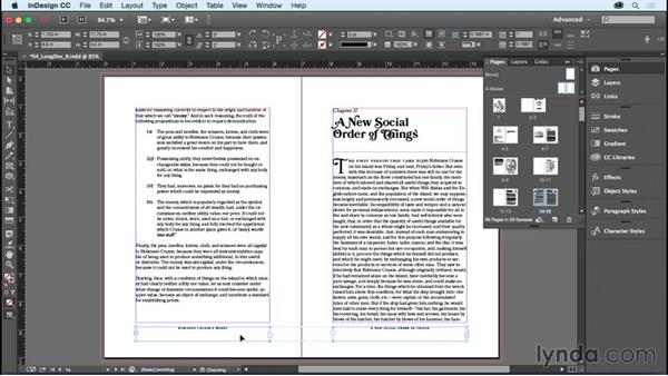 Overriding master page items: InDesign CC Essential Training (2015)