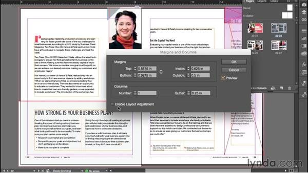 Setting margin and column guides: InDesign CC Essential Training (2015)