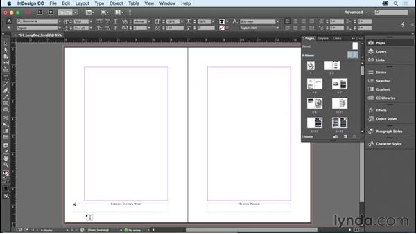 Adding page numbering: InDesign CC Essential Training (2015)