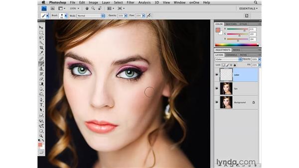 Adding makeup: Photoshop CS4 for Photographers
