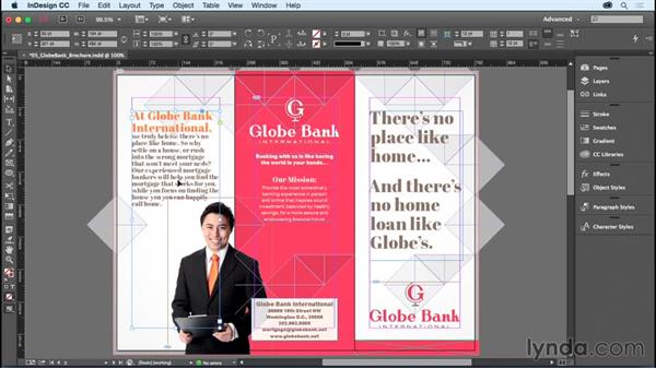Setting text inset and vertical justification: InDesign CC Essential Training (2015)
