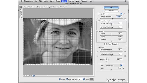 Correcting distortion: Photoshop CS4 for Photographers