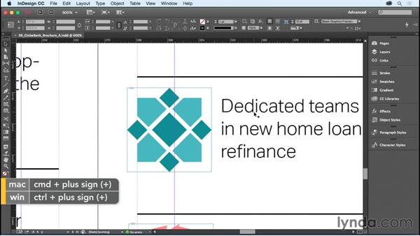 Setting the view quality of artwork: InDesign CC Essential Training (2015)